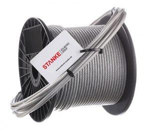 Cuerda de acero galvanizado en cubierta de PVC