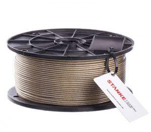 Cuerda de alambre de acero latonado en cubierta de PVC