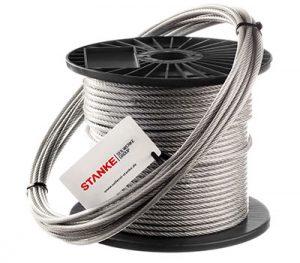 Cuerda de acero inoxidable en cubierta de PVC